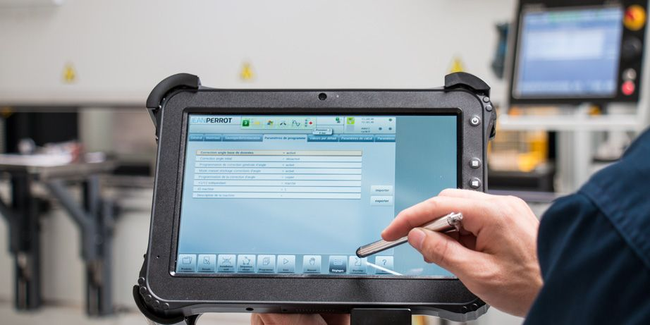 press brake remote control touchscreen tablet